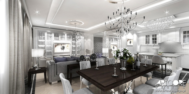 Classic style dining room by ArtCore Design Classic