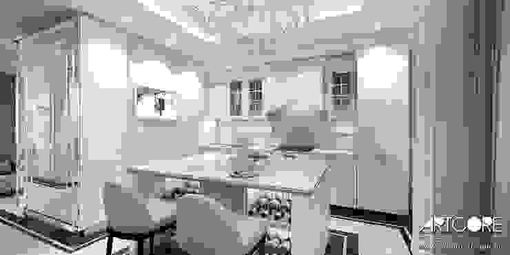 Five o'clock – projekt wnętrza apartamentu w Warszawie Klasyczna kuchnia od ArtCore Design Klasyczny