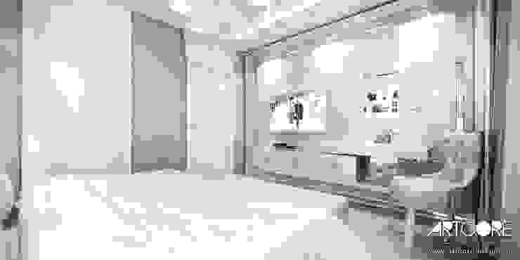 Five o'clock – projekt wnętrza apartamentu w Warszawie Klasyczna sypialnia od ArtCore Design Klasyczny