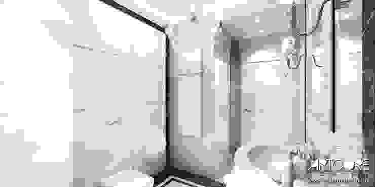 Five o'clock – projekt wnętrza apartamentu w Warszawie Klasyczna łazienka od ArtCore Design Klasyczny