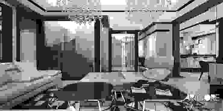 Summer Wine – projekt wnętrza domu Nowoczesny salon od ArtCore Design Nowoczesny
