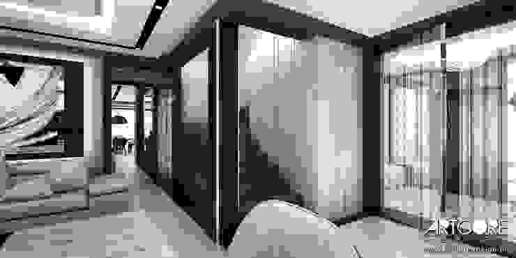 Summer Wine – projekt wnętrza domu Nowoczesny korytarz, przedpokój i schody od ArtCore Design Nowoczesny