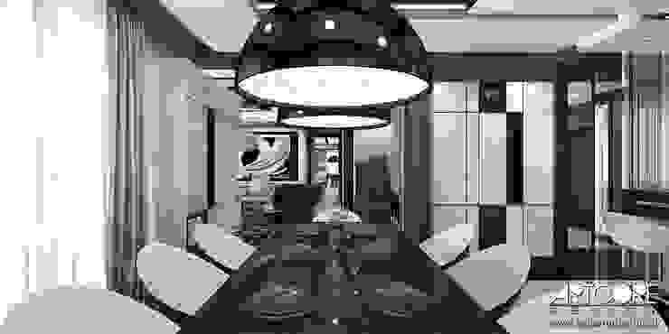 Summer Wine – projekt wnętrza domu Nowoczesna jadalnia od ArtCore Design Nowoczesny