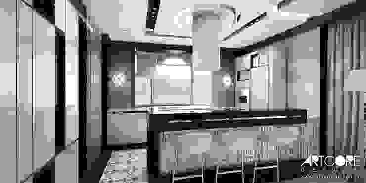 Summer Wine – projekt wnętrza domu Nowoczesna kuchnia od ArtCore Design Nowoczesny