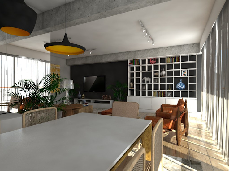 Apartamento Salas de jantar modernas por Studio M Arquitetura Moderno