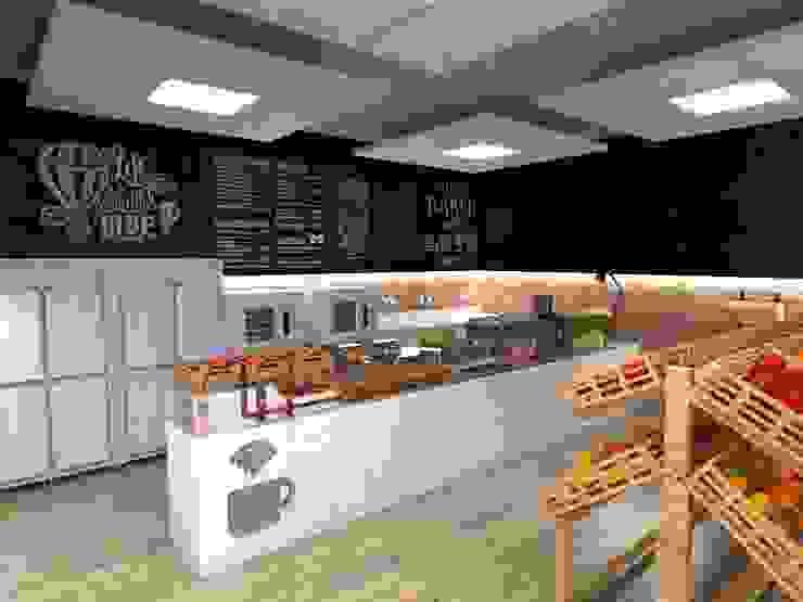 Mini Mercado |Padaria Espaços gastronômicos industriais por Studio M Arquitetura Industrial