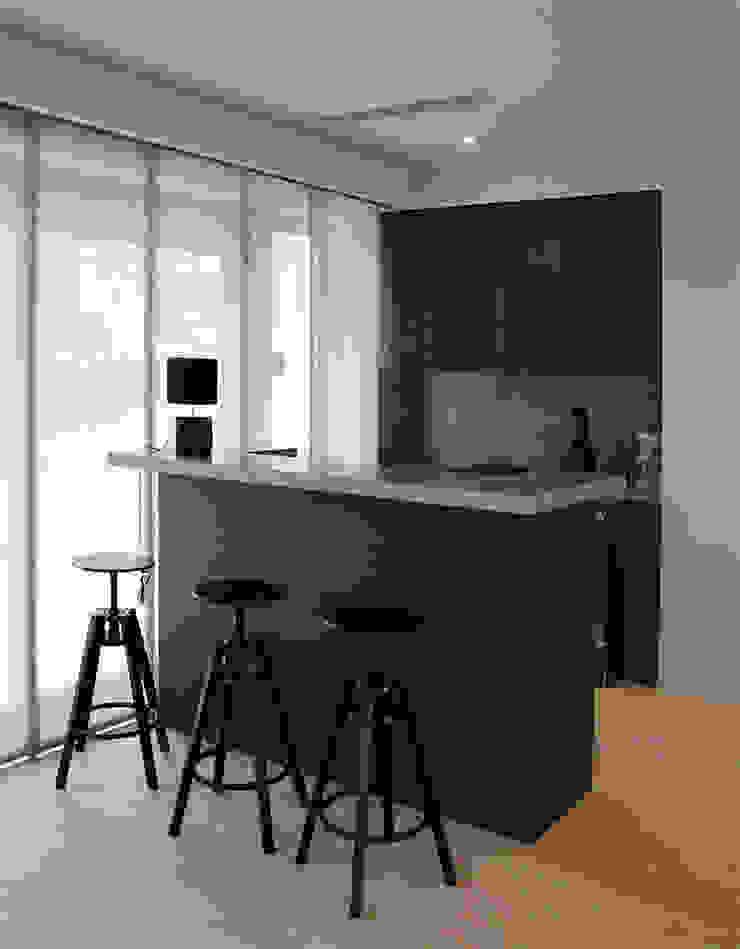 Salon Bar Bölümü Modern Mutfak MONOBLOK DESIGN & INTERIORS Modern