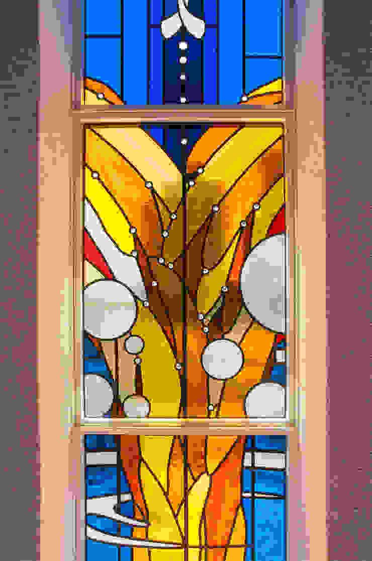 中心部のアップ オリジナルなイベント会場 の マルグラスデザインスタジオ オリジナル ガラス