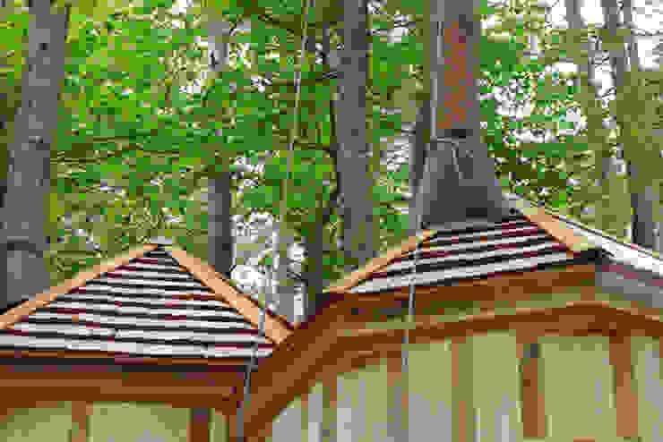 室内を貫通する樹木 カントリーデザインの 多目的室 の 株式会社エキップ カントリー 木 木目調