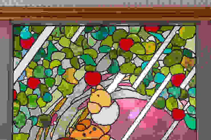 上部アップ オリジナルな学校 の マルグラスデザインスタジオ オリジナル ガラス