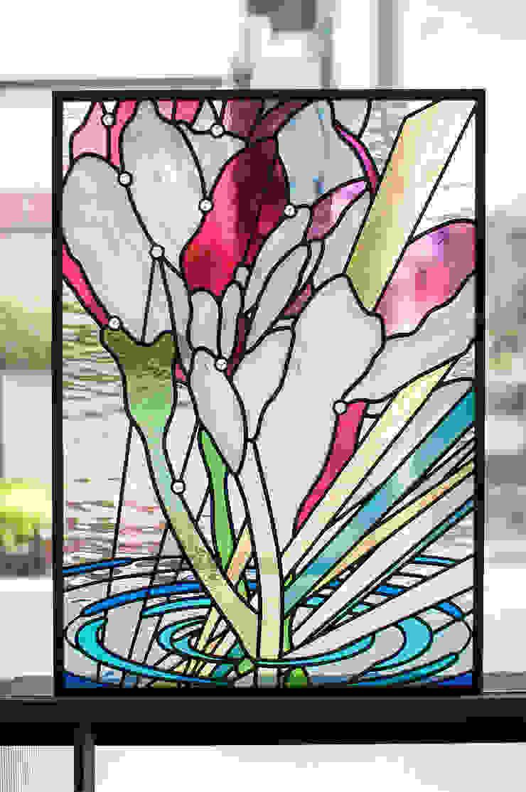 全景 オリジナルデザインの 多目的室 の マルグラスデザインスタジオ オリジナル ガラス