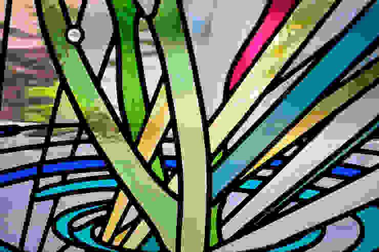 下部アップ オリジナルデザインの 多目的室 の マルグラスデザインスタジオ オリジナル ガラス