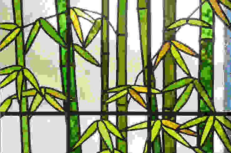 マルグラスデザインスタジオ Windows & doors Window decoration Kaca Green