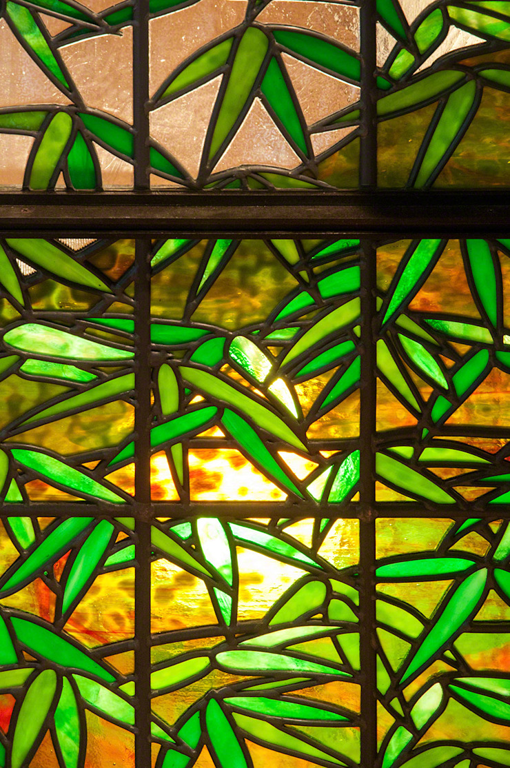 笹のクローズアップ 和風デザインの リビング の マルグラスデザインスタジオ 和風 ガラス