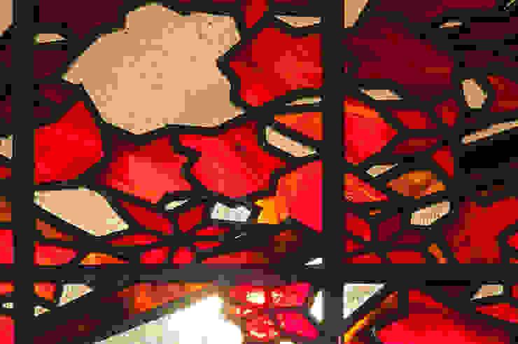 紅葉クローズアップ 和風デザインの リビング の マルグラスデザインスタジオ 和風 ガラス