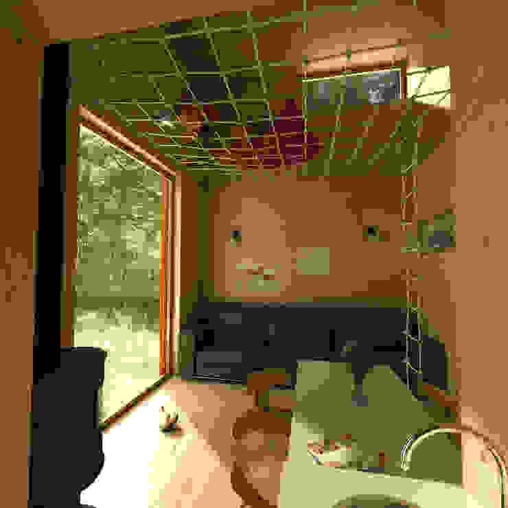 Projekty,  Salon zaprojektowane przez План_Б, Nowoczesny
