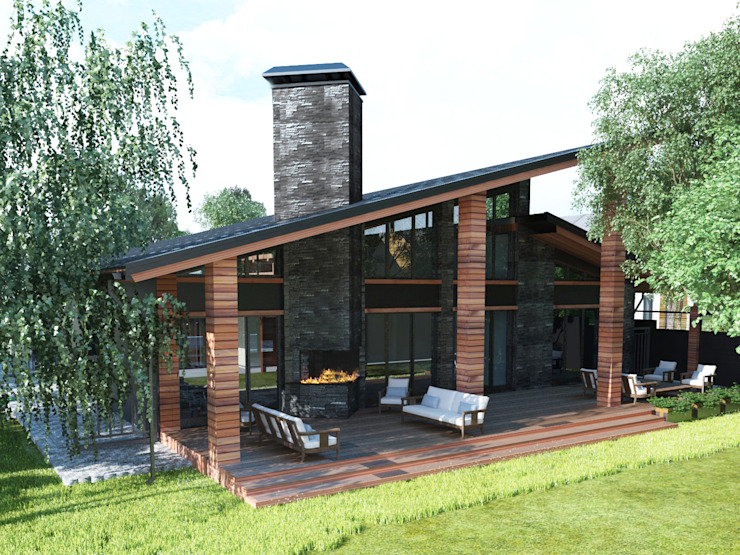 Проект загородного дома Дома в стиле минимализм от AnARCHI Минимализм