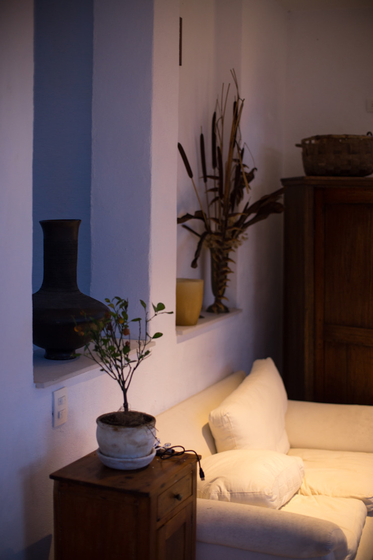 SDHR Arquitectura Living room Plywood White