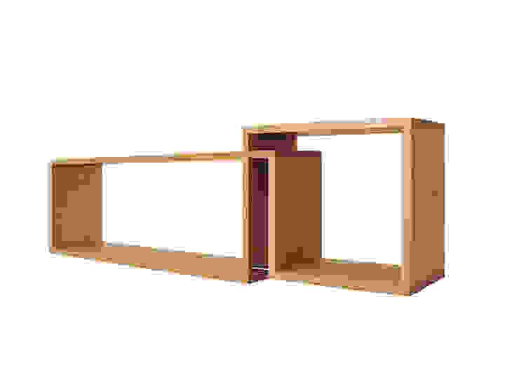 półka FINCH od Modestwork Skandynawski Lite drewno Wielokolorowy