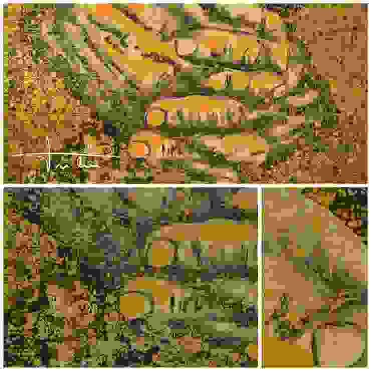 Golden Hands por Blue Art Factory Moderno