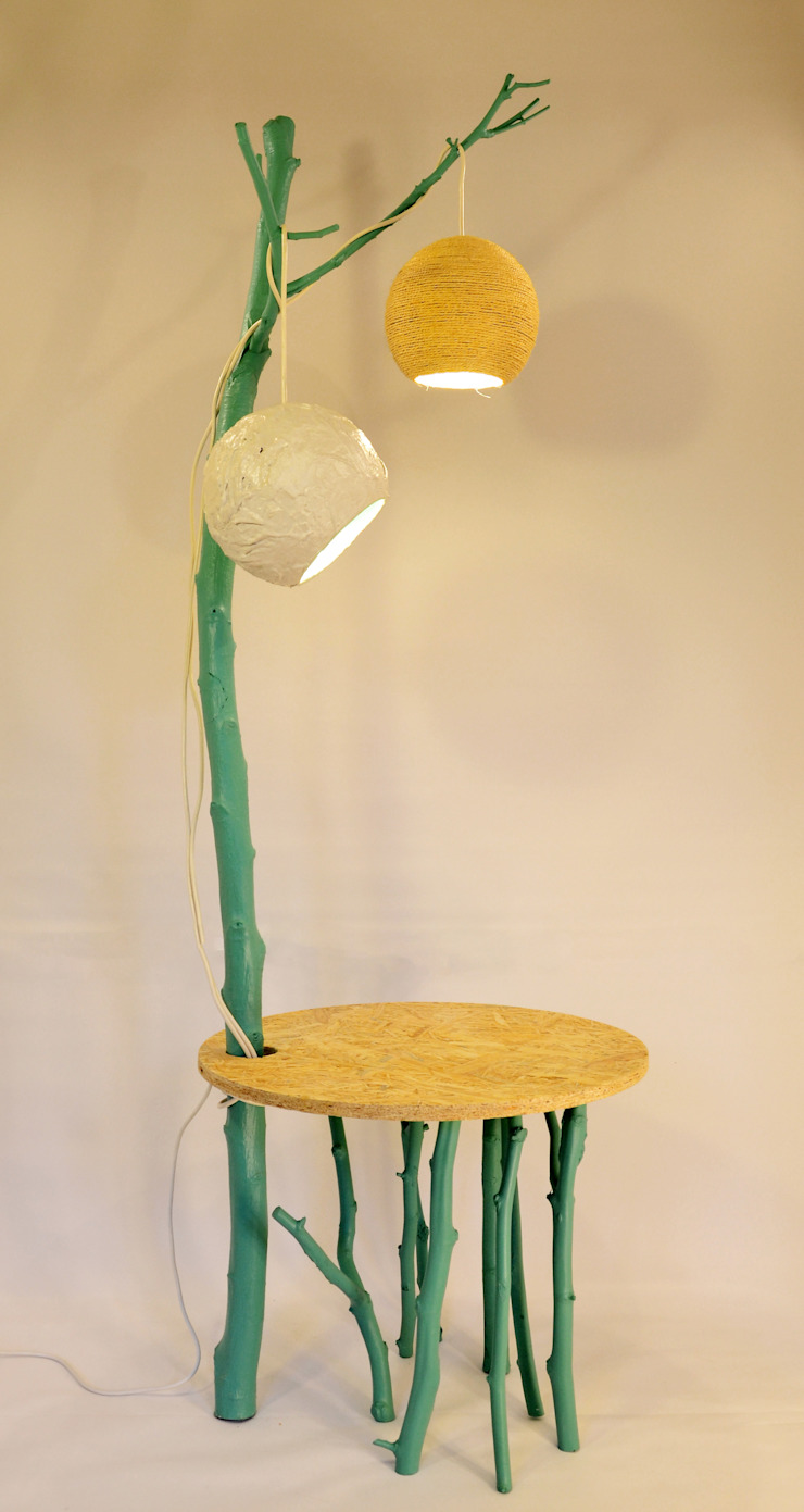 tree table lamp por Blue Art Factory Moderno Madeira Acabamento em madeira