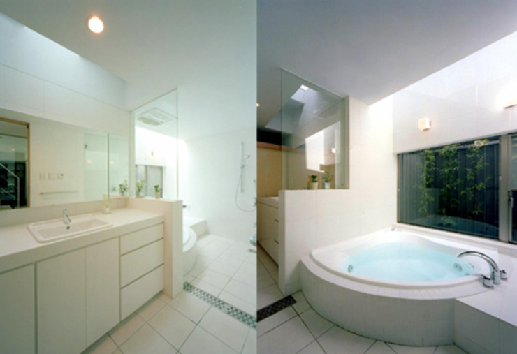 S邸 モダンスタイルの お風呂 の 株式会社アマゲロ / amgrrow Co., Ltd. モダン