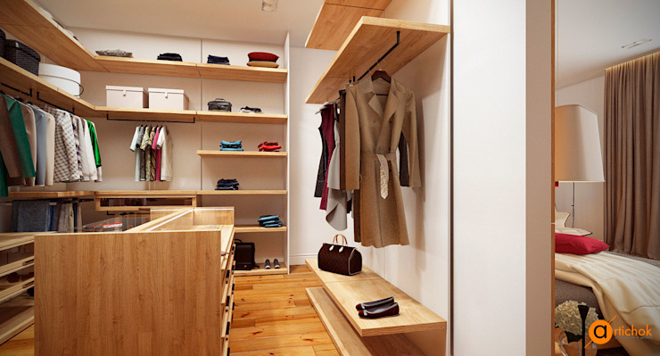 Artichok Design Walk in closets de estilo escandinavo
