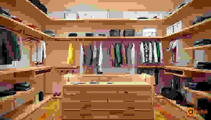 Scandinavian style dressing room by Artichok Design Scandinavian