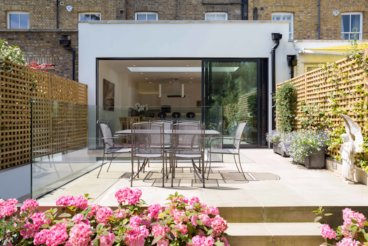Fulham House Modern balcony, veranda & terrace by Frost Architects Ltd Modern
