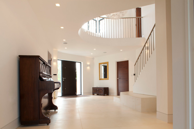 Essex House Modern Corridor, Hallway and Staircase by Frost Architects Ltd Modern