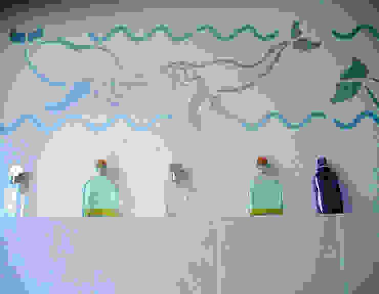 Wandschablone Wale ab-design GmbH Mediterrane Wände & Böden