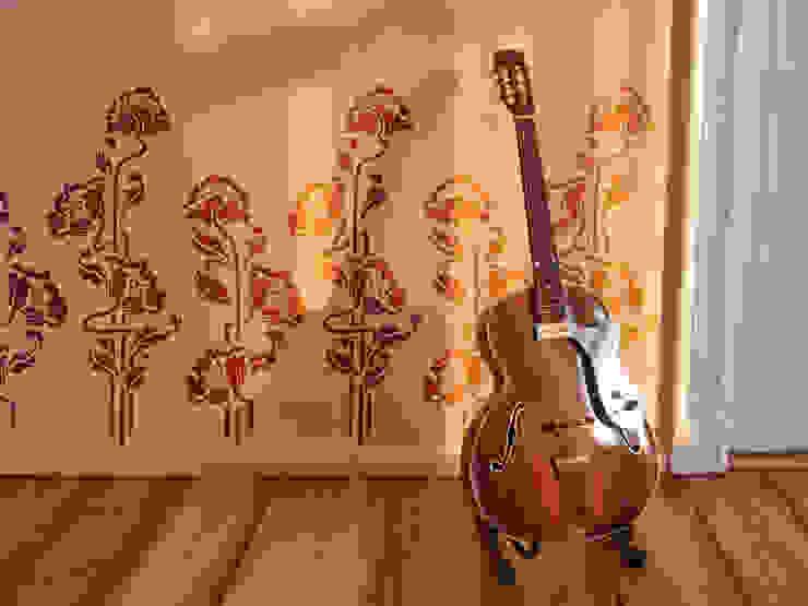 Wandschablone Blumen ab-design GmbH Moderne Wände & Böden