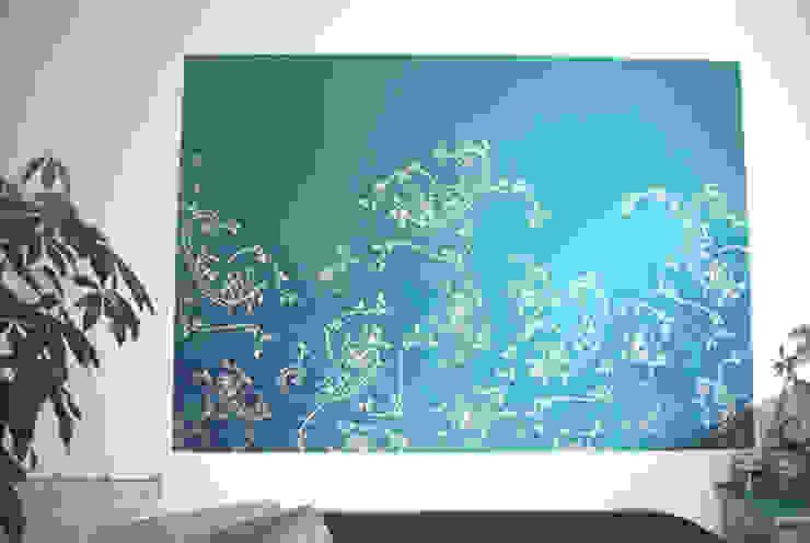 Wandschablone Paisley ab-design GmbH Moderne Wände & Böden