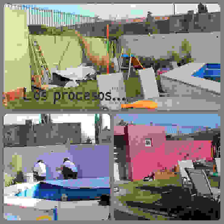 Jardin familiar Paredes y pisos modernos de LAS MARIAS casa & jardin Moderno