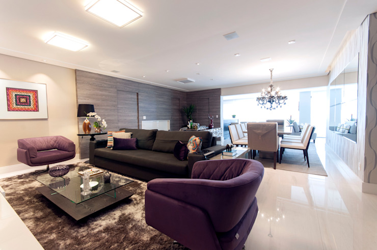 Estar Salas de estar modernas por Haus Brasil Arquitetura e Interiores Moderno