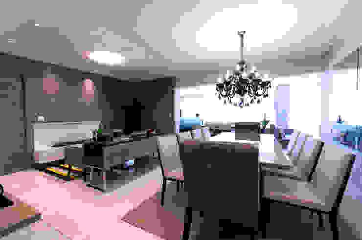 Jantar e lareira Salas de jantar modernas por Haus Brasil Arquitetura e Interiores Moderno
