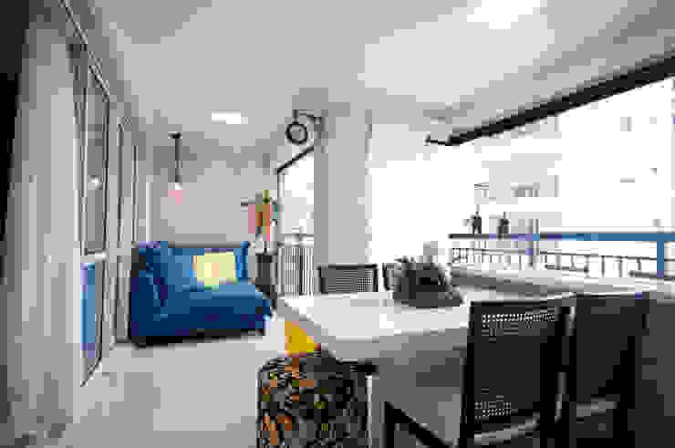 Varanda Gourmet Varandas, alpendres e terraços ecléticos por Haus Brasil Arquitetura e Interiores Eclético