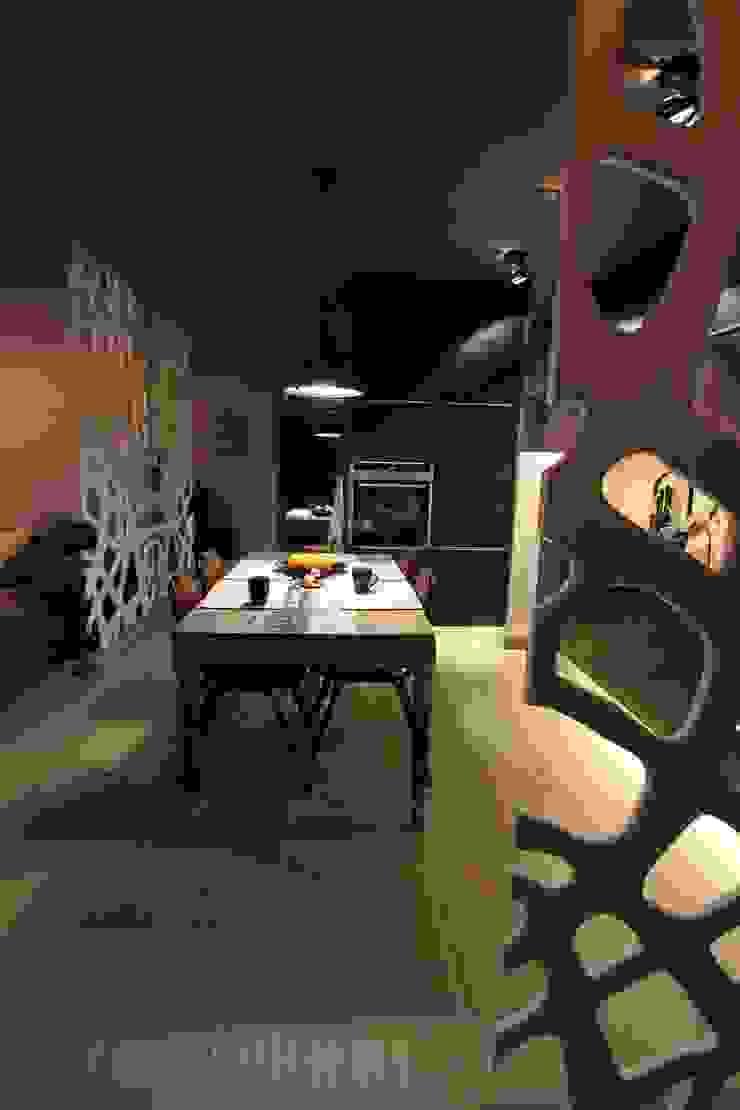 Jadalnia Industrialna jadalnia od projektowanie wnętrz Industrialny