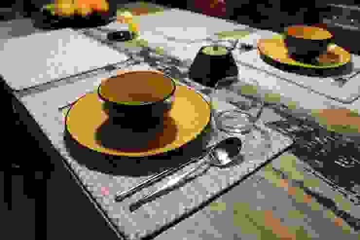 zastawa stołowa Nowoczesna jadalnia od projektowanie wnętrz Nowoczesny