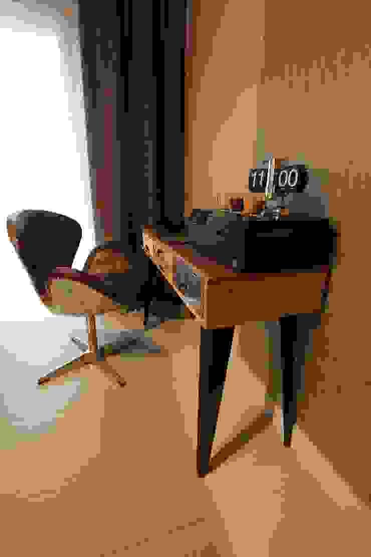 stylowe miejsce do pracy Nowoczesne domowe biuro i gabinet od projektowanie wnętrz Nowoczesny