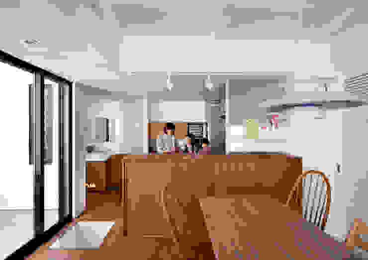 阿倍野の長屋〈renovation〉-5段の距離がいい- 和風の キッチン の atelier m 和風 木 木目調