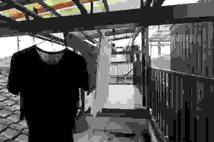 リノベーション前 和風デザインの テラス の atelier m 和風