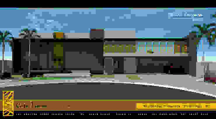 PROJETO TRAMA – RESIDENCIAL PRIMAVERA – PIRATININGA / SP Casas modernas por Márcio Cortopassi Arquitetura Moderno