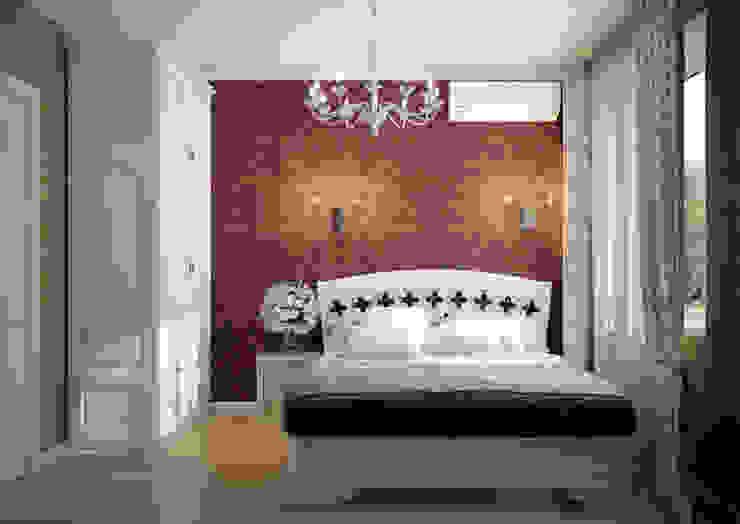 Дизайн второй гостевой в классическом стиле в пос. Краснодарский Спальня в классическом стиле от Студия интерьерного дизайна happy.design Классический