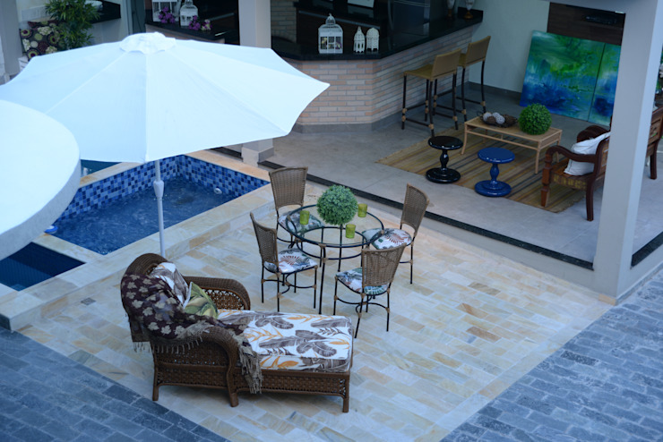 Casa Contemporânea Piscinas modernas por Renata Prata Studio Moderno