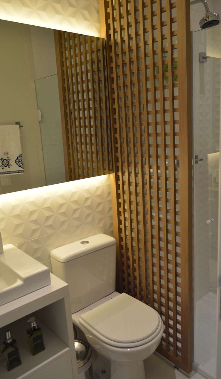 Phòng tắm phong cách hiện đại bởi Fabiana Rosello Arquitetura e Interiores Hiện đại