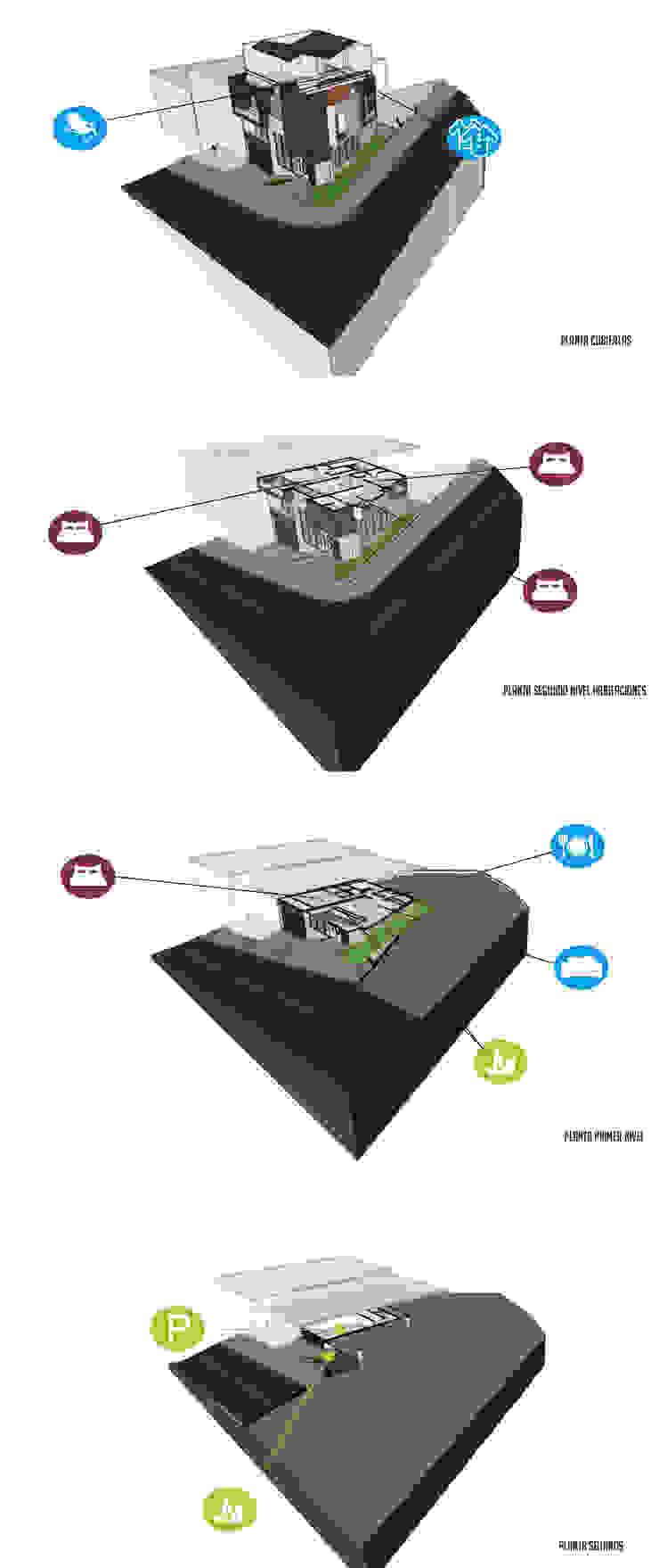 Programa arquitectónico Casas modernas de Le.tengo Arquitectos Moderno