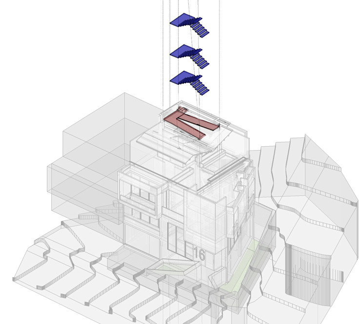 Circulaciones verticales Casas modernas de Le.tengo Arquitectos Moderno