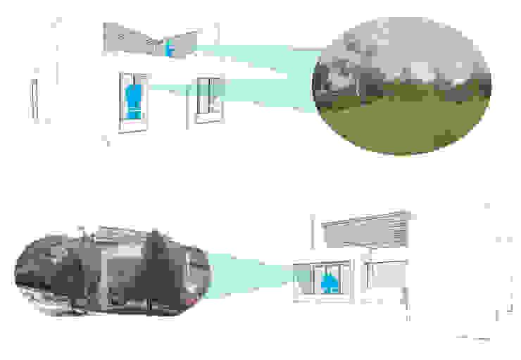 Contacto con el exterior Casas modernas de Le.tengo Arquitectos Moderno