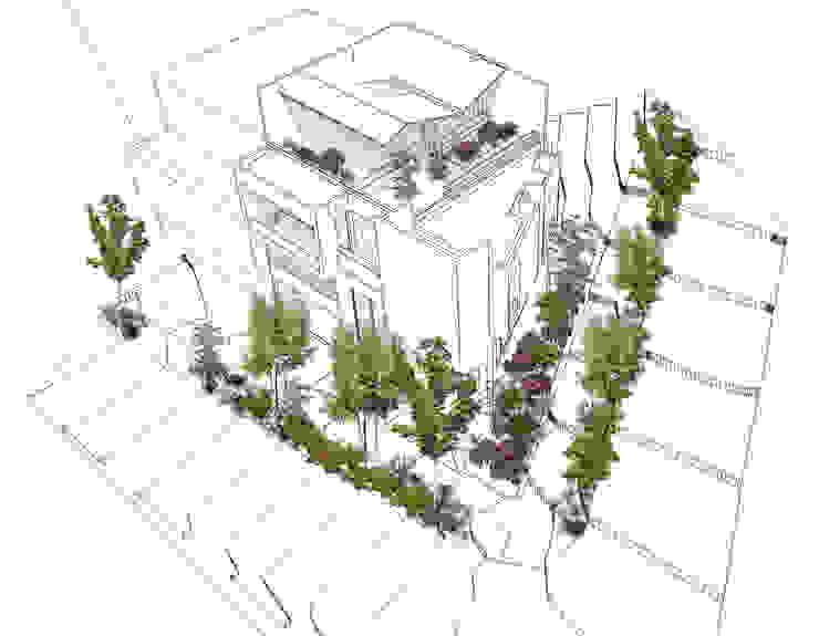 Vegetación y jardinería Casas modernas de Le.tengo Arquitectos Moderno